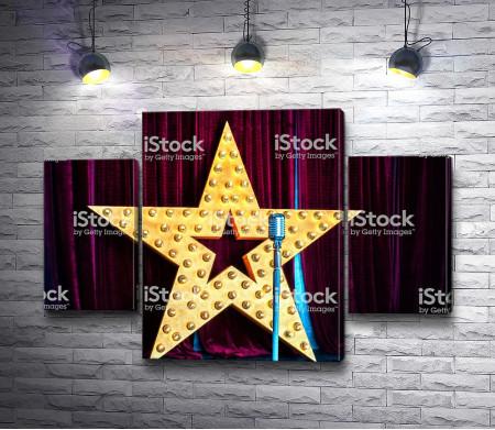 Микрофон на фоне звезды