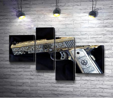 """Коллекционный пистолет """"Ruger"""" с гравировкой"""