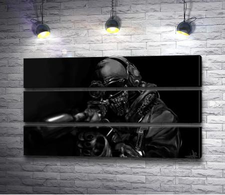 Снайпер в обмундировании