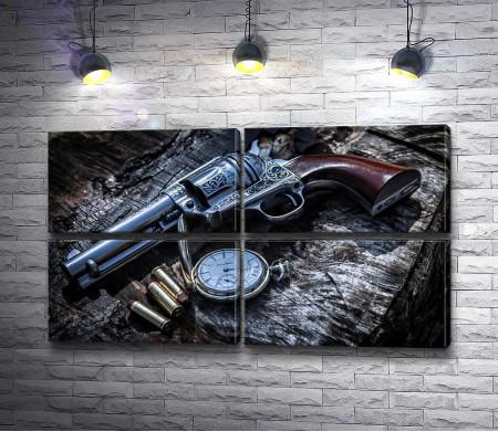Револьвер с патронами