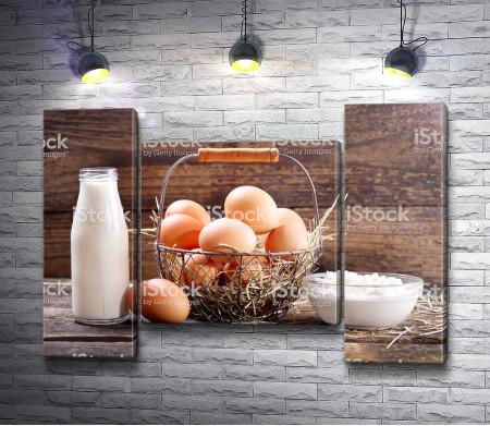 Фермерское молоко, творог и яйца