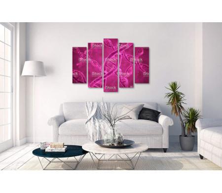 Строение ДНК в розовом цвете