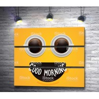 """Кофейный постер """"Good Morning"""""""