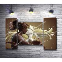 Влюбленная пара из белого и молочного шоколада