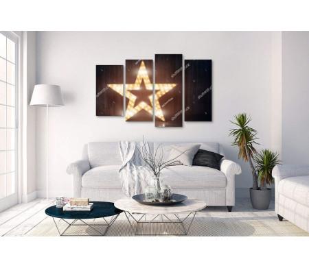 Декоративная ретро звезда с подсветкой