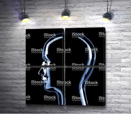 Голова титанового робота