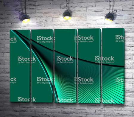 Зеленый ребристый луч
