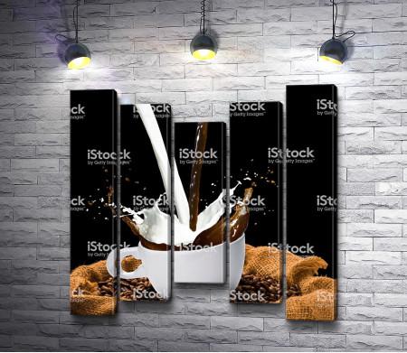 Объединение кофе с молоком