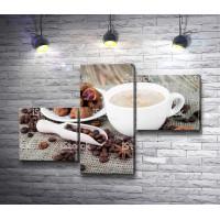 Капучино с кофейными зернами