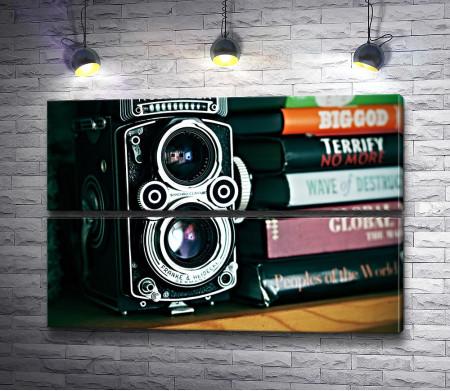 Фотоаппарат и книги