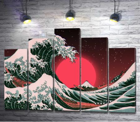 Великая волна в Японии