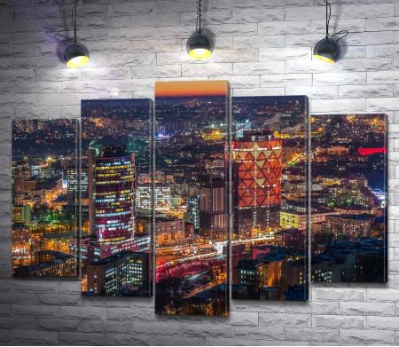 Ночные огни мегаполиса Киев