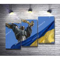 Памятник Независимости и флаг Украины, Киев