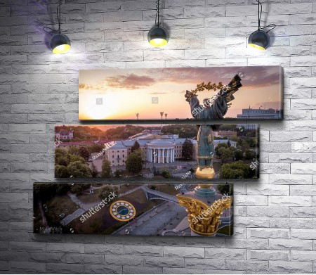 Памятник Независимости на закате, Киев, Украина