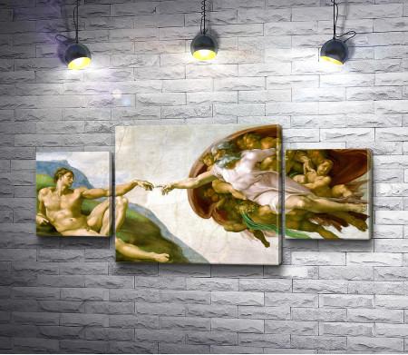 """Микеланджело """"Сотворение Адама"""""""