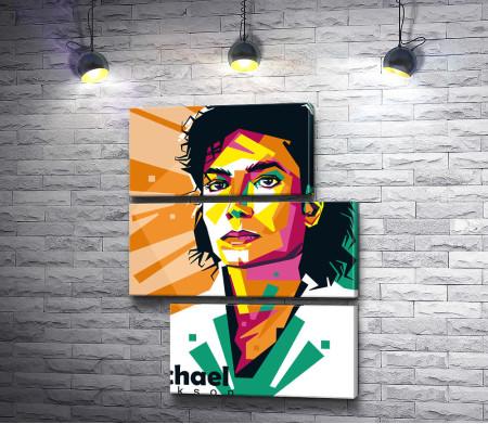 Певец Майкл Джексон, арт-портрет