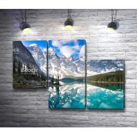 Альпийские горы с отражением в озере