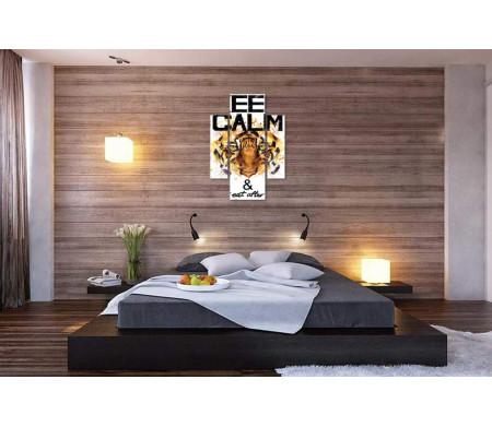 """Постер """"Сохраняй спокойствие и не ешь после 6"""" с тигром"""