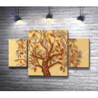 Декоративное дерево с листочками