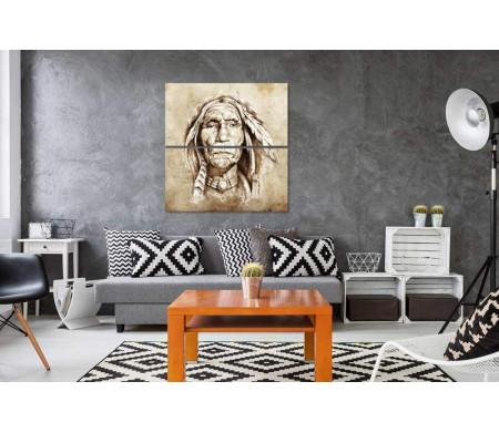Портрет индейца в арте