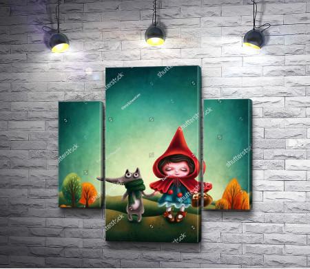 Красная шапочка и волк