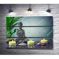 Будда и камни спа