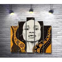 Африканская девушка с орнаментами