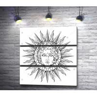 Солнце с лицом бога Аполлона