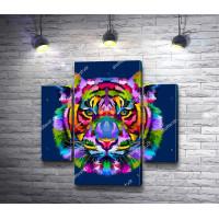 Морда красочного тигра