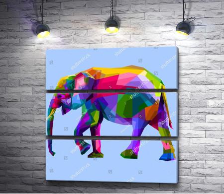 Слон из цветной геометрии