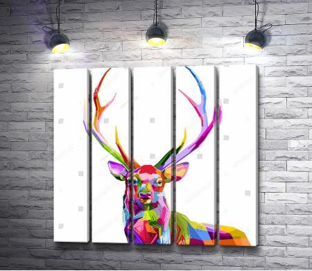 Разноцветный олень