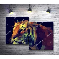 Тигр из полигонов
