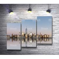 Панорамный вид на Манхэттен - Боро Нью-Йорка