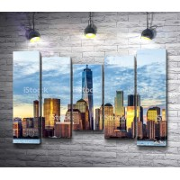 Вид на Манхэттенские небоскребы (США)