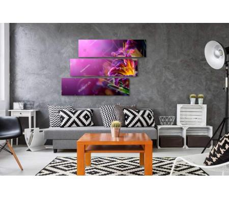 Сиренево-оранжевая лилия