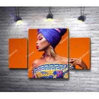 Африканская девушка с ярким мейком