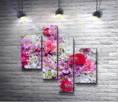 Композиция из нежно-розовых цветов