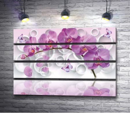 Лиловая орхидея