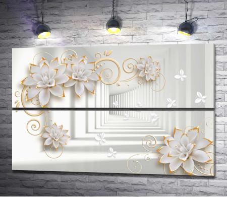 Дизайн с 3D цветами