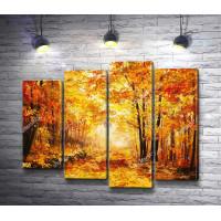 Золотая осень в лесу