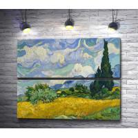 """Винсент Ван Гог """"Пшеничное поле с кипарисом """""""