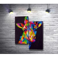 Жираф в радужных красках