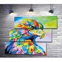 Зоркий орел в ярких красках