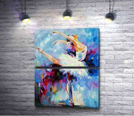 Утонченная балерина в танце