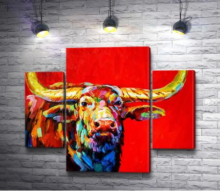 Разноцветный буйвол