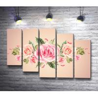 Бутоны нежных роз