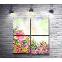 Весенние цветы в живописи