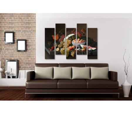 Натюрморт с фруктами на каменном выступе (Still Life with Fruit on a Stone Ledge ) - Микеланджело да Караваджо (Michelangelo Merisi da Caravaggio)