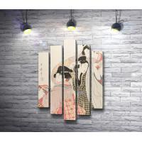 """Две гейши и захмелевший клиент"" (Китагава Утамаро)"