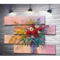 Красочный букет полевых цветов